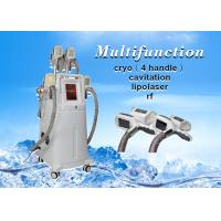 Buy cheap 4 Cryolipolysis handles cavitation rf lipolaser Slimming Machine For Body and Face from wholesalers
