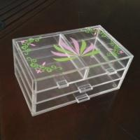 Buy cheap Acrylic 3 tiers Cosmetic Display 4 drawers Light weight with silk printing product