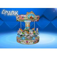 Buy cheap 6 People Coin Operated Mini Kiddy Ride Machine , Amusement Park Carousel Ride from wholesalers
