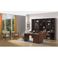 Buy cheap 2016 New Nordic Design Study room Furniture by Walnut wood Office Desk with Armchair and in Wall Bookcase Cabinet from wholesalers