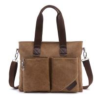 Buy cheap Business Retro Male Laptop Oblique Cross Shoulder Bag With 2 Front Pockets from wholesalers
