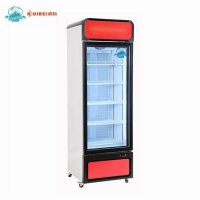 Buy cheap Supermarket 450L display showcase glass door freezer upright refrigerator from wholesalers