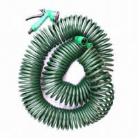 Buy cheap Garden Coil Hose, Made of EVA, Measures 3/8 inch x 100ft, with Nozzle Set from wholesalers