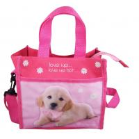 Buy cheap Children Zip Tote Bag Pet picture Lunch handbags Polyester 21×19×12 cm product
