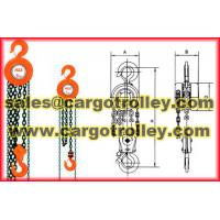 Buy cheap chain pulley blocks works principle from wholesalers