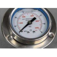 Flange panel mount stainless steel pressure gauge