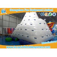 Rave Sports Inflatable Water Park Games Iceberg Floating Climbing Wall For Outdoor