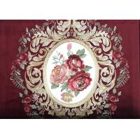 Buy cheap Light Embroidered Curtain Fabric , Purple Velvet Fabric 450GSM Weight from wholesalers