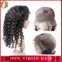 Buy cheap Unprocessed Water Wave Cuticle Aligned Virgin Human Hair Full Lace Wig With Baby Hair from wholesalers