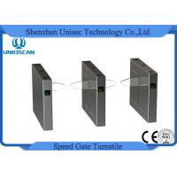 Buy cheap Full Automatic Flap Pedestrian Turnstile Gate Fast Speed With 10 Pairs Infrared Sensor from wholesalers