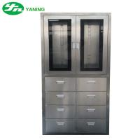 Buy cheap Stainless Steel Medical Cabinet With 8 Pcs Drawer Half Swing Door Adjustable Shutter from wholesalers