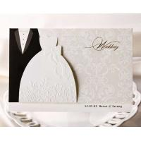 Buy cheap Cheapest Tuxedo & Bride Dress Funny Wedding Invitation Card BH2046 from wholesalers