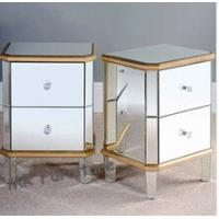 Buy cheap Excellent Mirrored Night Stands Birch Wood Leg MDF Body Customized Size from wholesalers