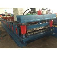 Buy cheap Color PPGI Trapezodial Steel Roof Roll Forming Machine Building , Roofing Roll Formers from wholesalers
