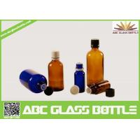 Buy cheap Wholesale 1/2oz 1oz 2oz 4oz 8oz  Amber Cobalt Blue Boston Round Glass  Screw Bottle product