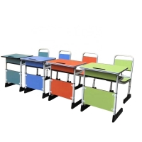 Buy cheap Metal Children pantone color Double Student Desk And Chair from wholesalers