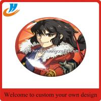 Buy cheap Cheap custom 50mm tin badge,print badge with cartoon logo design from wholesalers