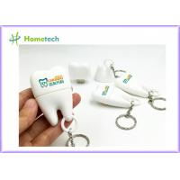 China PVC Teeth Shape Customized USB Flash Drive With 1GB~128GB Capacity , White Color on sale