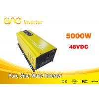 Buy cheap Low frequency pure sine wave off grid solar inverter solar power 48 volt dc to 220 volt 50hz ac inverter 5000w from wholesalers