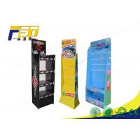 Buy cheap Peg Hook Cardboard POP Displays Free Standing Gloss / Matte Lamination SGS Approval from wholesalers