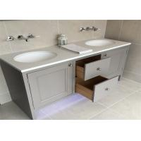 Buy cheap Custom Bathroom Vanity Cabinets Paint Surface Granite Countertop Including Basin Faucet from wholesalers