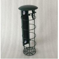 Buy cheap Iron Wire Dark Green Metal Bird Feeders Weather Resistant Fat Ball Feeder With Tray from wholesalers