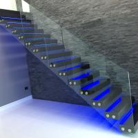 Buy cheap modern glass folding stairs / build floating staircase product
