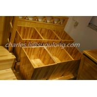 Buy cheap Fruit And Veg Display Units Wooden Craft Stand For Supermarket / Grocery Store from wholesalers