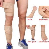 Buy cheap Elastic Knee Wrap Strong Elasticated Bandage Sport Breathable Protector Comfort Spandex Br from wholesalers