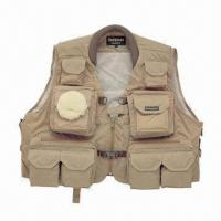 Fishing life vest with waterproof cloth excellent in for Fishing life jackets