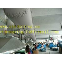 Buy cheap 100% polyester inherent fire resistant fabric air conditioner duct sos duct hose from wholesalers