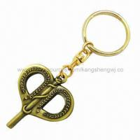 Buy cheap Key Shape Bronze Finished/Gold-plated Metal Keyholders, for Gifts/Promotions, New Design from wholesalers