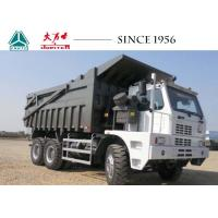 Buy cheap 10 Wheeler Mining Tipper Trucks , Sinotruk HOWO Dump Truck 70 Tons Payload from wholesalers