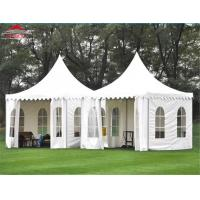 Buy cheap Double - Sided Coated PVC Cloth Pagoda Party Tent 3 x 3m With Side Wall from wholesalers