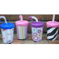 Buy cheap Children plastic cup with engraved cat image lid product