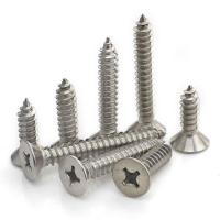 Buy cheap Flat Head Bright Finish Stainless Steel Self Tapping Bolts 3.5 X 10mm - 6.3 X 100mm from wholesalers