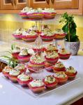 Buy cheap Fine Workmanship Wedding Acrylic Candy Display 4 Tier Clear Acrylic Cupcake Stand from wholesalers