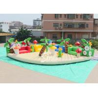 Buy cheap 10x10m sea beach fun kids N adults giant inflatable amusement park with big chairs from wholesalers