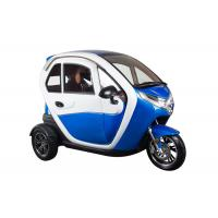 Buy cheap Blue Enclosed Electric Tricycle With Safety Belt Disc Brake System Sightseeing from wholesalers