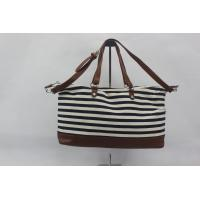 Black And White Custom Made Canvas Bags Women Standard , Long Life Time