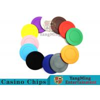 Buy cheap Roulette Dedicated Solid Color Plastic Poker ChipsWith Customized Print Logo from wholesalers