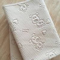 Buy cheap Dog pattern natural colored cotton washable reusable pet pee pad from wholesalers