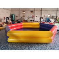 Buy cheap Yellow / Red Portable Rectangular Large PVC Inflatable Water Pool For Outdoor / Indoor from wholesalers