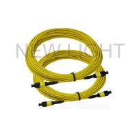 Buy cheap 3.0 Mm MPO To MPO Single Mode Cable / 12 Core Multimode Fiber Optic Cable from wholesalers