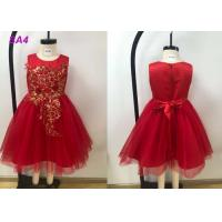 Buy cheap Lace Patterns Beading Princess Flower Girl Dresses / Short Tail Red Flower Girl Dresses from wholesalers
