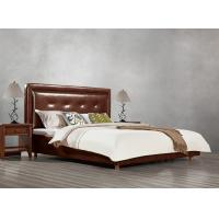 Buy cheap Fabric Upholster padad Headboard Queen Bed Leisure Bedroom Furniture in American from wholesalers