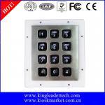 Buy cheap Custom Industrial Numeric Keypad , 12 Plastic Keys Metal Keypad With Backlight from wholesalers