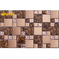 Buy cheap OEM Glossy Glass Mosaic Decorative Tiles For Kitchen Backsplash , SGS from wholesalers