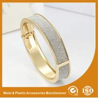 Buy cheap Antique Charm Zinc Alloy Gold Plated Metal Bangles For Women Gift from wholesalers