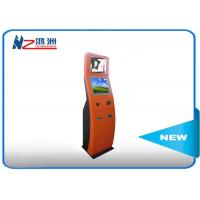 Buy cheap RFID card reader Self Service Check In Kiosk with red powder coated from wholesalers